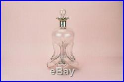 1895 Sterling Silver Decanter William Hutton Glass Antique English Victorian