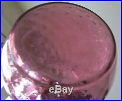 1950's RETRO VINTAGE PASTEL PURPLE ITALIAN OPTIC ART GLASS GENIE BOTTLE DECANTER