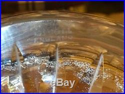 2 VINTAGE CUT Crystal Decanters STUART ENGLAND SIGNED Clifton park + Park Lane
