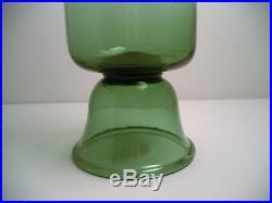 24 Vtg Italian Empoli Verde Green Glass Apothecary Jar Floor Decanter