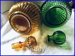 2x Vintage Genie Bottle Decanter Italian