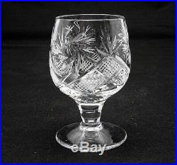 7-Pc Russian Vodka Set Crystal 16 oz Decanter + 6 Shot Glasses Vintage Hand Made