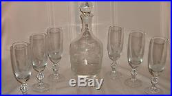 Amazing! Queen Lace Crystal'american Wildlife Series' 8 Pc. Decanter Set