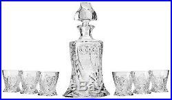 Aurum Crystal AU51353, Quadro Liquor/Vodka Set, Hand Made Vintage 1 Bohemian
