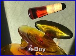 Blenko Art Glass amberina decanter Vintage Mod midcentury modern