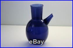 Blue glass nose pitcher, Timo Sarpaneva, Iittala Vintage Decanter, Finland