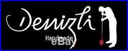 Denizli Galaxy 5pc Vintage Whisky SET, Handmade Crystal Decanter 28 oz + Glasses