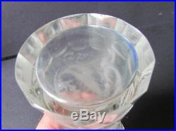 EDINBURGH CRYSTAL THISTLE VINTAGE 8¾ WHISKY DECANTER TOT GLASS STOPPER(Ref3700)
