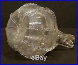 EXCEPTIONAL! ANTIQUE Vintage MURANO Art Glass VENETIAN Ribbed DECANTER BOTTLE