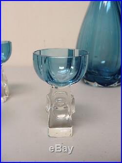 Fabulous Vintage Austrian Art Deco Glass 6-piece Decanter Set