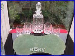 Fabulous Vintage Decanter 4 Tumblers Tray Spirits Gin Whiskey Designer Drinks