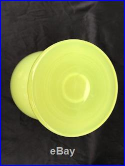 Fabulous Vintage Mid Century Cenedese Murano Vaseline Opaline Art Glass Decanter