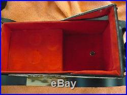 Fi- Vintage Antique Car Music Box Decanter & 6 Shot Glasses (japan) Mint