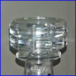 Fine Vintage Baccarat'Tallyrand' Crystal Cut Decanter Acid Etched Mark