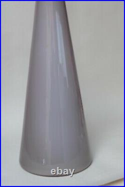 Grey Taupe Genie Bottle Decanter Mcm Glass Italy Vintage Empoli 1960s Hand Blown