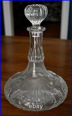 Handsome Vintage Baccarat Crystal Wild Turkey Collector's Ship's Decanter