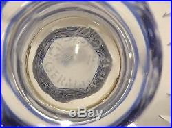 Horst Belda Franklin 12 colbalt Cut To Clear Barvarian Wine Hocks & Decanter