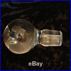 Kosta Signed Antique Vintage Decanter Crystal Orb Bulbous Circle Bubble Round