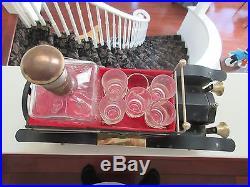 Liquor Car, Decanter, Glasses, Music Box, How Dry I Am, Vintage Bar Car