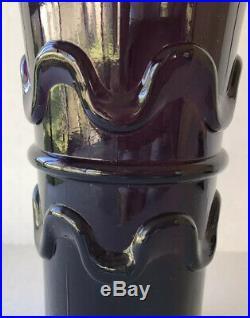 MCM Vintage Genie Bottle Decanter Rossini Empoli Italy Purple Amethyst 19