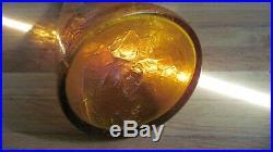 MID Century Vintage Blenko Winslow Anderson Crackle 920l Decanter Yellow