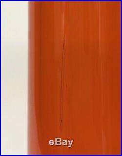 Mid Century Blenko Wayne Husted Large Tangerine Decanter with Stopper Vintage 561