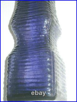 Mid Century Modern Purple Decanter with Stopper 60s Italian Empoli 17 VINTAGE