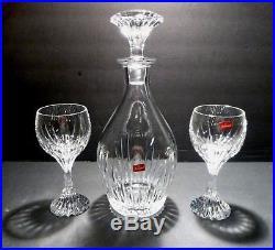 98157bf9a76 New VINTAGE Baccarat Crystal MASSENA (1979-) 3 Piece Set Decanter 2 ...