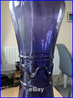 Original Purple Genie Bottle Rare Vintage Rossini Empoli Glass Decanter MCM 60s