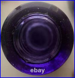 Purple Hobnail Genie Bottle 1960s Art Glass Vintage Empoli Decanter MCM