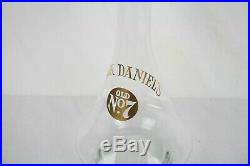 RARE SHAPE 11 Vintage Jack Daniels Old No. 7 Glass Whiskey Decanter Gold