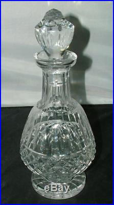 RARE VINTAGE Waterford Cut Crystal MAEVE 12 Footed BRANDY Decanter MINT