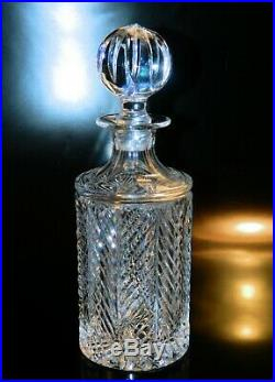 Ralph Lauren HERRINGBONE Round Liquor DECANTER First Edition EXCELLENT Vintage 9