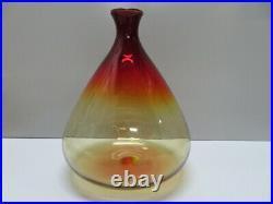 Rare Vintage Mid-Century Art Glass Amberina-Tangerine Vase Decanter Unique