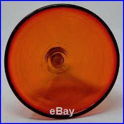 Rare Vtg BLENKO WAYNE HUSTED Sipper Stopper for Tangerine Decanter Wine Cup Shot