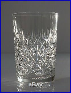 Six Vintage Thomas Webb Lead Crystal Wellington Pattern Whisky Glass Tumblers
