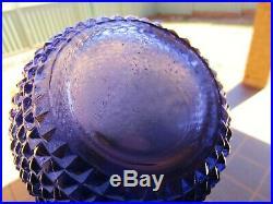 Stunning Retro Vintage Purple Diamond Italian Art Glass Genie Bottle Decanter