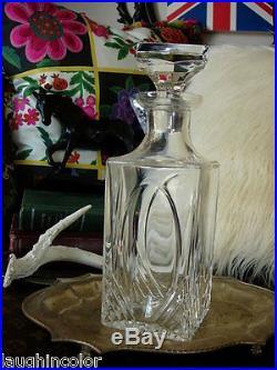 Ultra RARE Vintage GUCCI Crystal Wine Decanter Carafe Pitcher Glass Barware GG