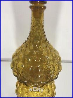 VINTAGE 1960's ITALIAN ART GLASS GENIE BOTTLE DECANTER & STOPPER