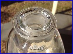 VINTAGE BLENKO GLASS WILLIAMSBURG DECANTER CW-13 Clear Crystal