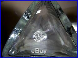 VINTAGE Baccarat Crystal VOSGES Triangle Spirit Decanter 11 1/2 Made France
