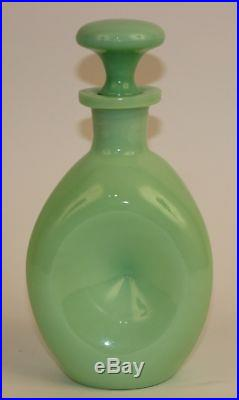 VINTAGE JADEITE DECANTER With PINCHED SIDES