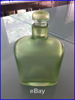 VINTAGE MID-CENTURY PAOLO VENINI MURANO ITALIAN GLASS DECANTER inciso