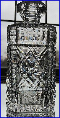 VINTAGE WATERFORD CRYSTAL GIFTWARE SQUARE WHISKEY BOURBON DECANTER With STOPPER