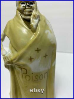 VTG Grim Reaper Skull Skeleton Sake Decanter Poison Bottle Shot Glass Set Japan