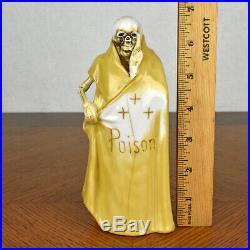 VTG Grim Reaper Skull Skeleton Sake Decanter Poison Bottle & Six Shot Glass Set