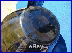 VTG LARGE Empoli Italian SMOKE Glass Swirl GENIE Bottle DECANTER Mid Century 26