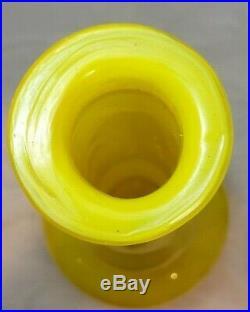 Vintage 18Empoli Italian Yellow Glass Decanter Genie Bottle