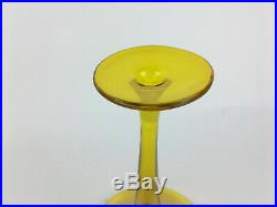 Vintage 1960's Yellow Blenko Decanter Wayne Husted As-Is