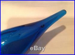 Vintage 1960s Bischoff Blue Decanter Concord Line 6514 24 Wayne Husted Design